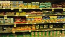 Gluten free food aisle
