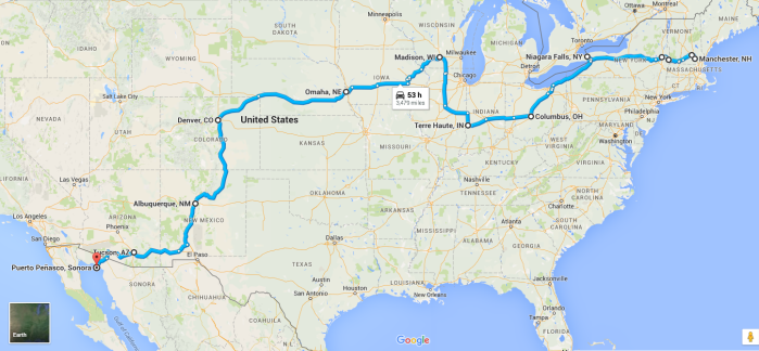 2015 Cross country road trip