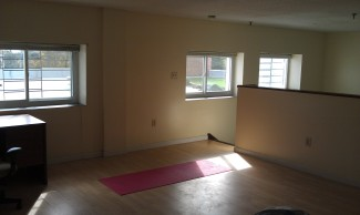 Master bedroom & yoga spot